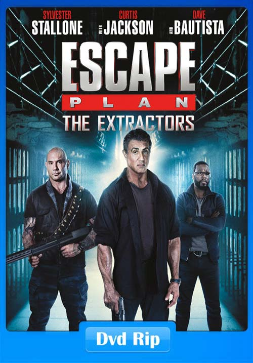 Escape Plan The Extractors 2019 DVDRip ESub x264 | 480p 300MB | 100MB HEVC Poster