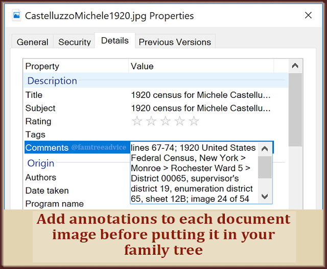 You can add notes and a title to every document image you collect.