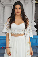 Telugu Actress Amyra Dastur Stills in White Skirt and Blouse at Anandi Indira Production LLP Production no 1 Opening  0072.JPG