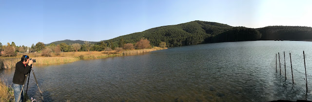 Magoebaskloof Dam, photographer taking a picture, Limpopo province