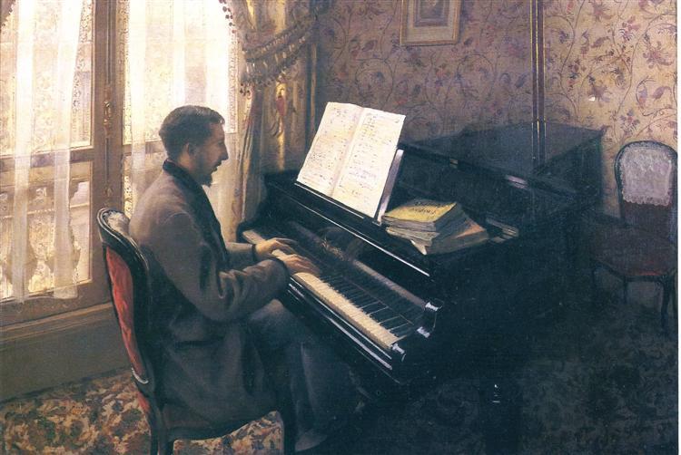 Gustave Caillebotte, Musik, Klavier, Seele, Freude, talent haben, klavierspielen, paintings, bild, poetische Art