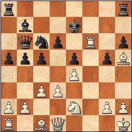 Partida de ajedrez Velat - Pérez-Peñamaría 1967, posición después de 18.Txf6!