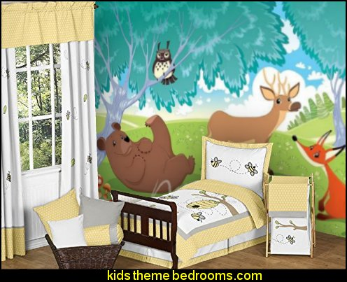 Honey Bumble Bee Hive Kids 5 Piece Boy or Girl Toddler Bedding Set
