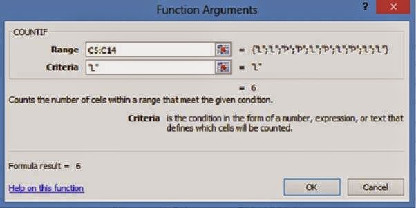 function argument countif