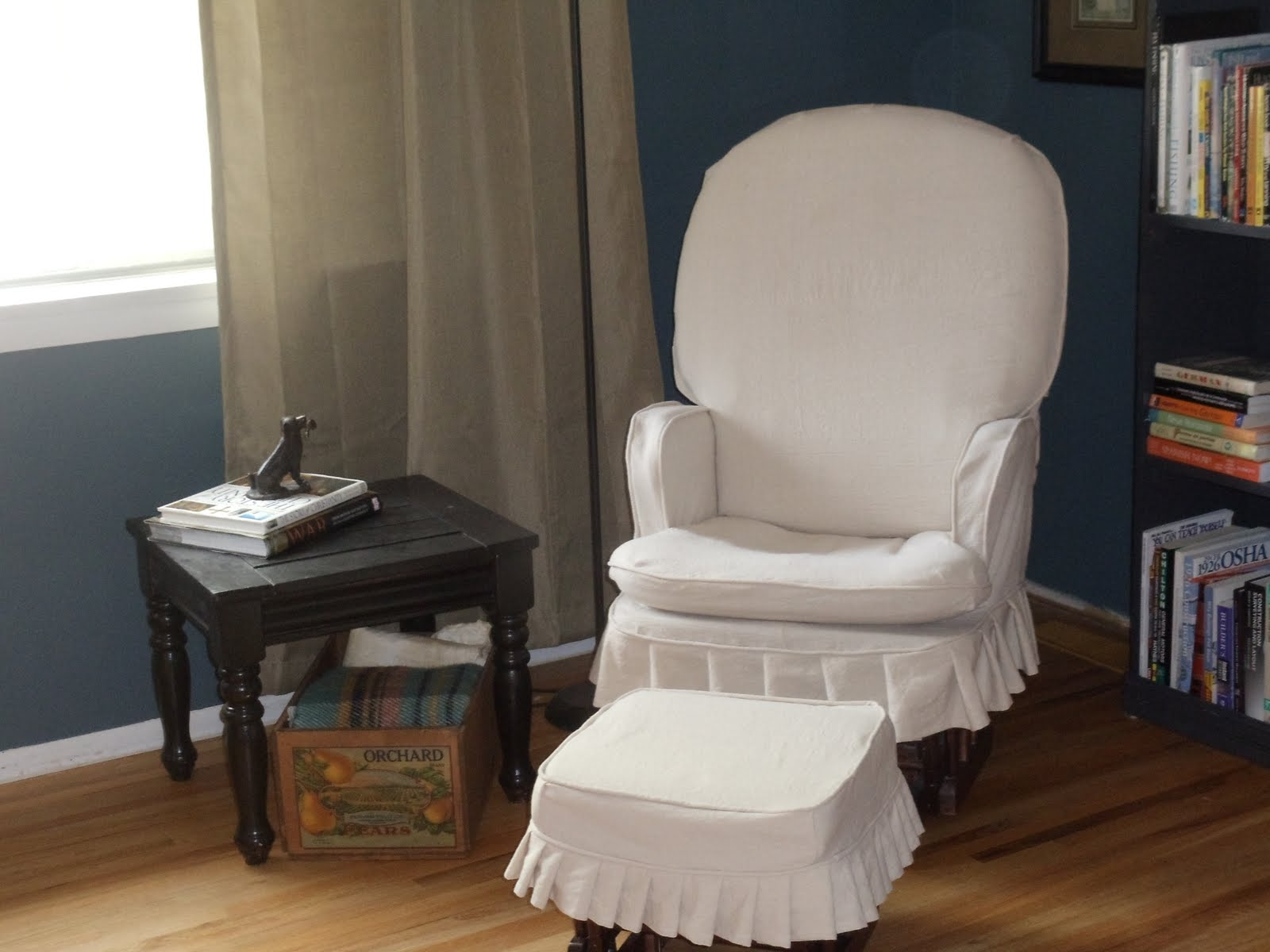 Slip Cover For Chair Simplevintagestyle Rocking Chair Slipcover Reveal