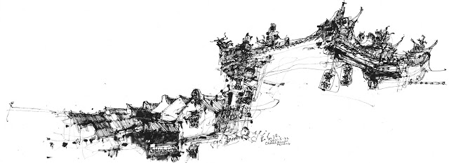 4th International Urban Sketching Symposium: Sketching with Dry Twig and Chinese Ink (Demo B)