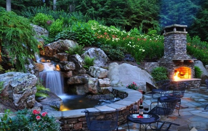 Backyard garden waterfall design ideas art home design ideas for Build a simple backyard waterfall
