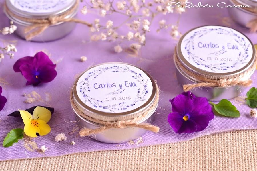 Velas naturales para bodas detalles personalizados de invitados