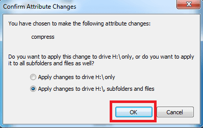 Cara kompres drive menggunakan NTFS Compresion langkah 2