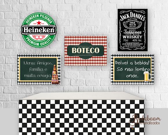 Boteco, para imprimir, printable, arte, digital, kit poster, posters, posteres, painel, festa, adulto, chá de cozinha, chá de panela, festa temática