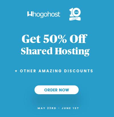 Whogohost Mega Sale Promo