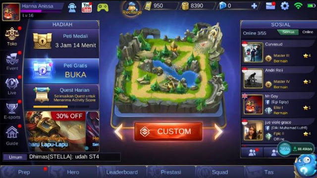custom mode mobile legends