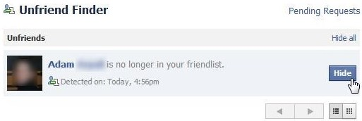 how to find unfriended friends on facebook
