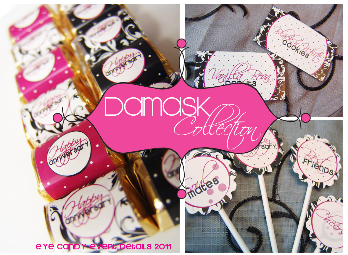 Eye Candy Creative Studio: {DAMASK ANNIVERSARY} Real party ...