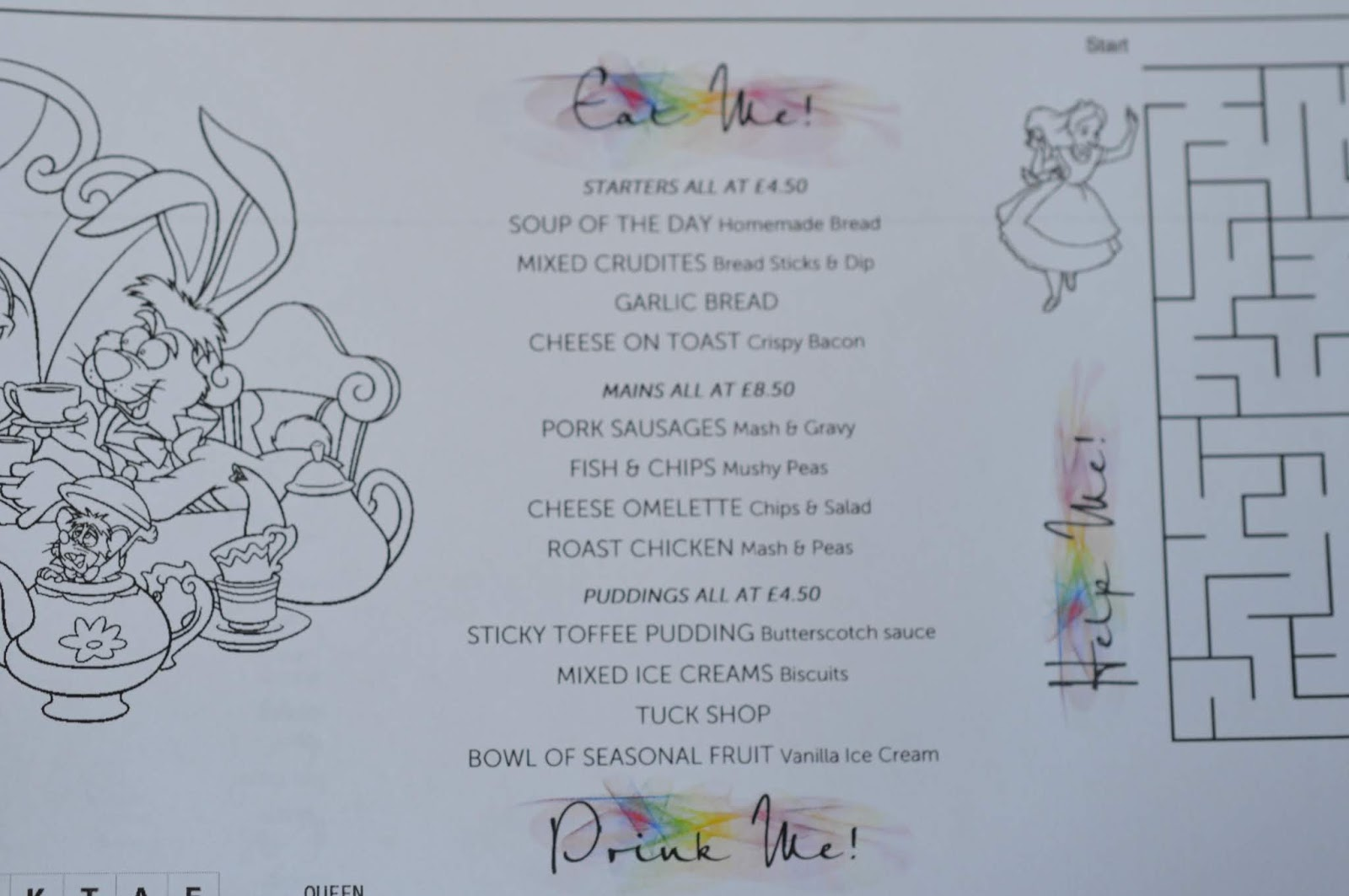 A Luxury Family Staycation at Rockliffe Hall Hotel  - clubhouse children's menu
