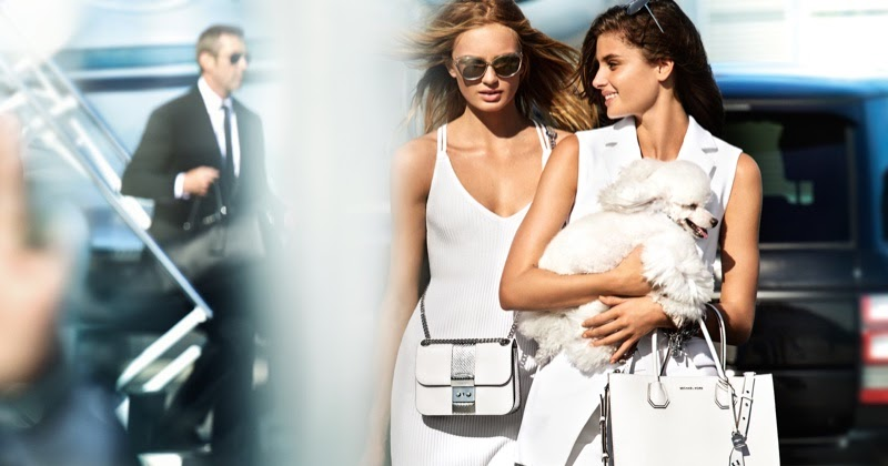 c755d351c434 Taylor Hill & Romee Strijd Live a Glamorous Life for Michael Michael Kors  Spring '17 | My Little Fashion Blog