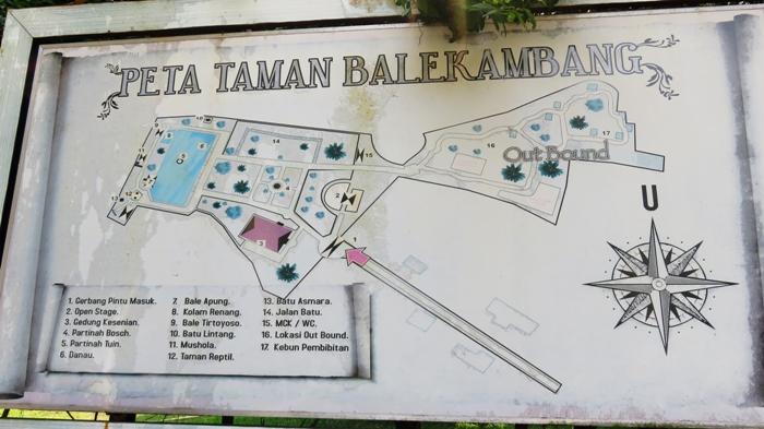 Peta Taman Balekambang