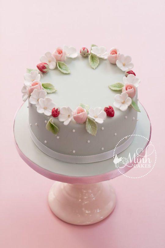 15 Tortas Decoradas Con Flores M 225 S Chicos