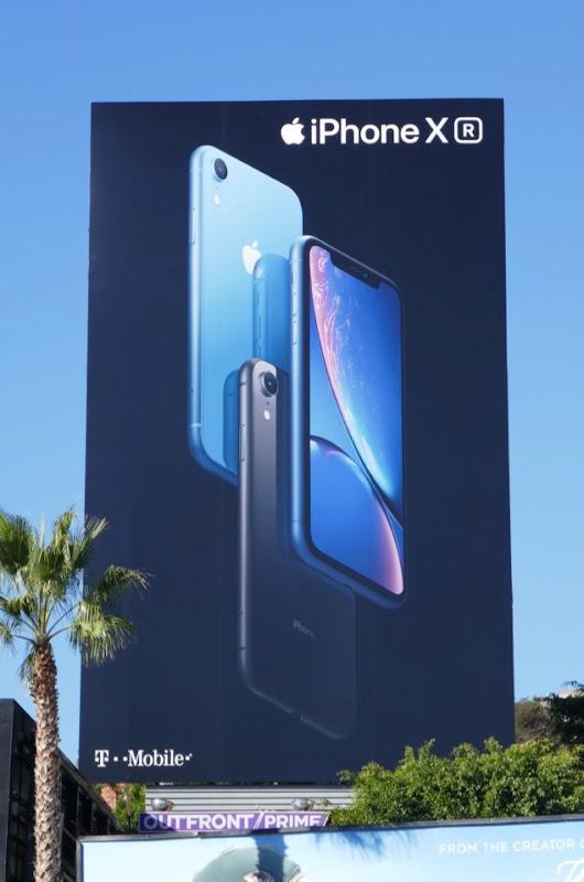 iPhone XR blue billboard