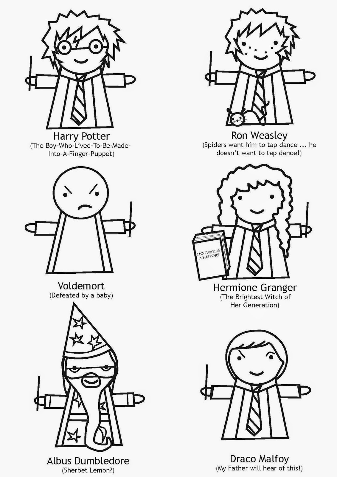 tea and craft: Harry Potter finger puppets