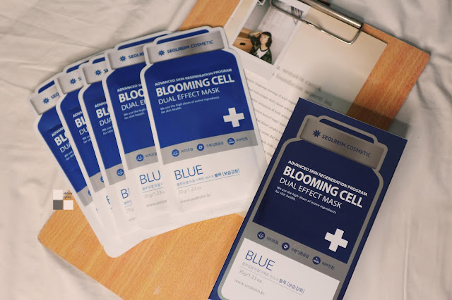 Seolreim Cosmetics. Blooming Cell  Dual Effect Mask Blue