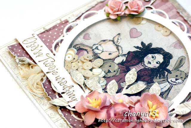 papier do scrapbookingu Vintage Baby Girl