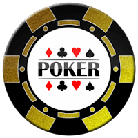 gold and black poker chip