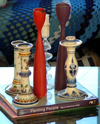 Vintage candle stick collection