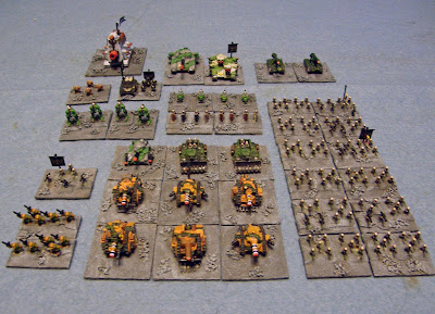 Epic 40K Imperial army based for 'Hordes of the Things'