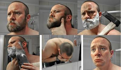 Cum să îți tai barba dar fără să o ciopârțești... he he he - imagine preluată de pe site-ul www.collegehumor.com
