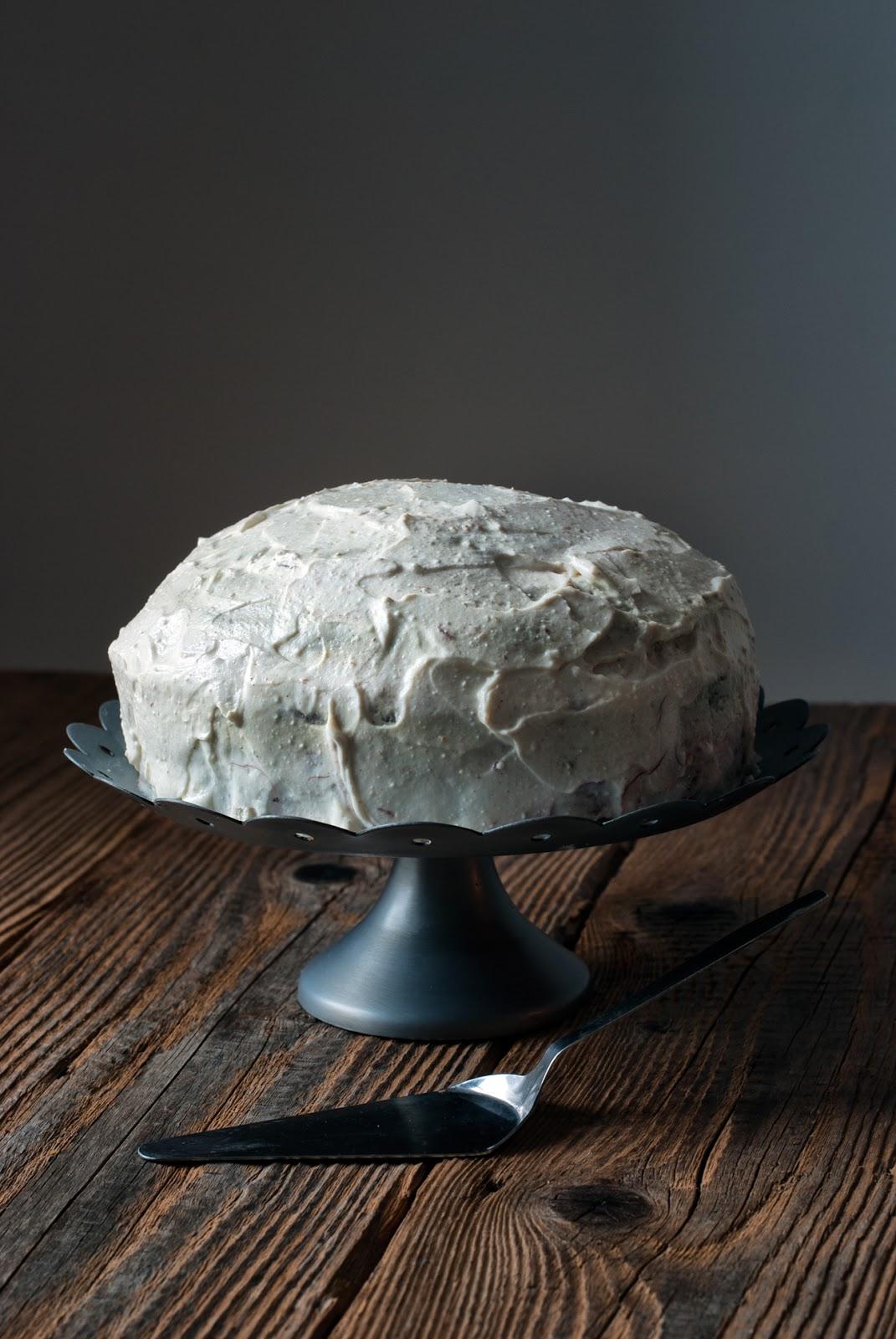 Bezglutenowe ciasto dyniowe z powidłami i twarożkiem