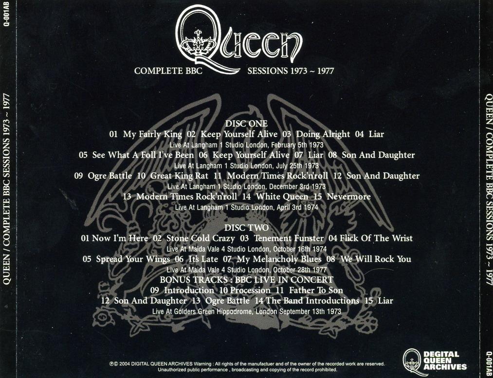 T U B E : Queen - 1973-1977 - Complete BBC Sessions (FM/FLAC)