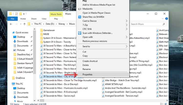 Cara Menghapus Meta Data File Pada Windows 10