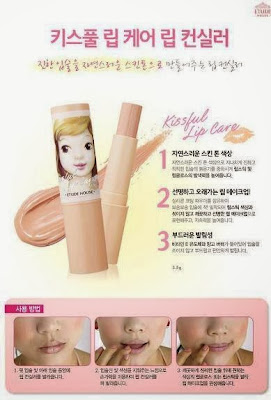 gradient lips, cara membuat gradient lips, lips korea, etude house, lips etude house, review, tips make up, chibis etude house korea, concealer bibir,