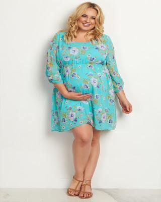 vestido de flores corto para embarazadas