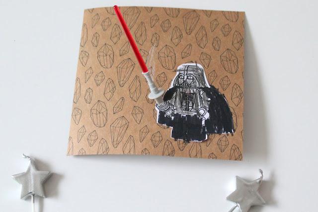 Star Wars Darth Vader DIY Einladungen Einladungskarten Weltraum Rakete Kindergeburtstag Jules kleines Freudenhaus