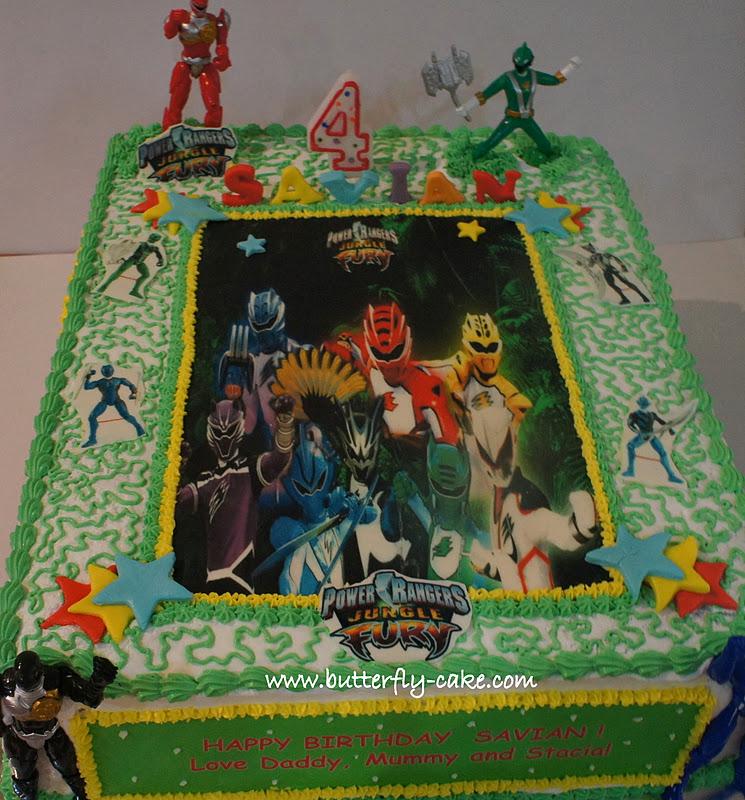 Butterfly Cake Power Ranger Jungle Fury For Savian