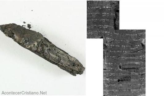 Pergamino antiguo del libro de Levítico