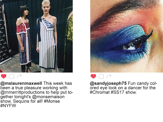 NYFW New York Fashion Week Day Two Instagram  Monse Chromat Beauty Backstage