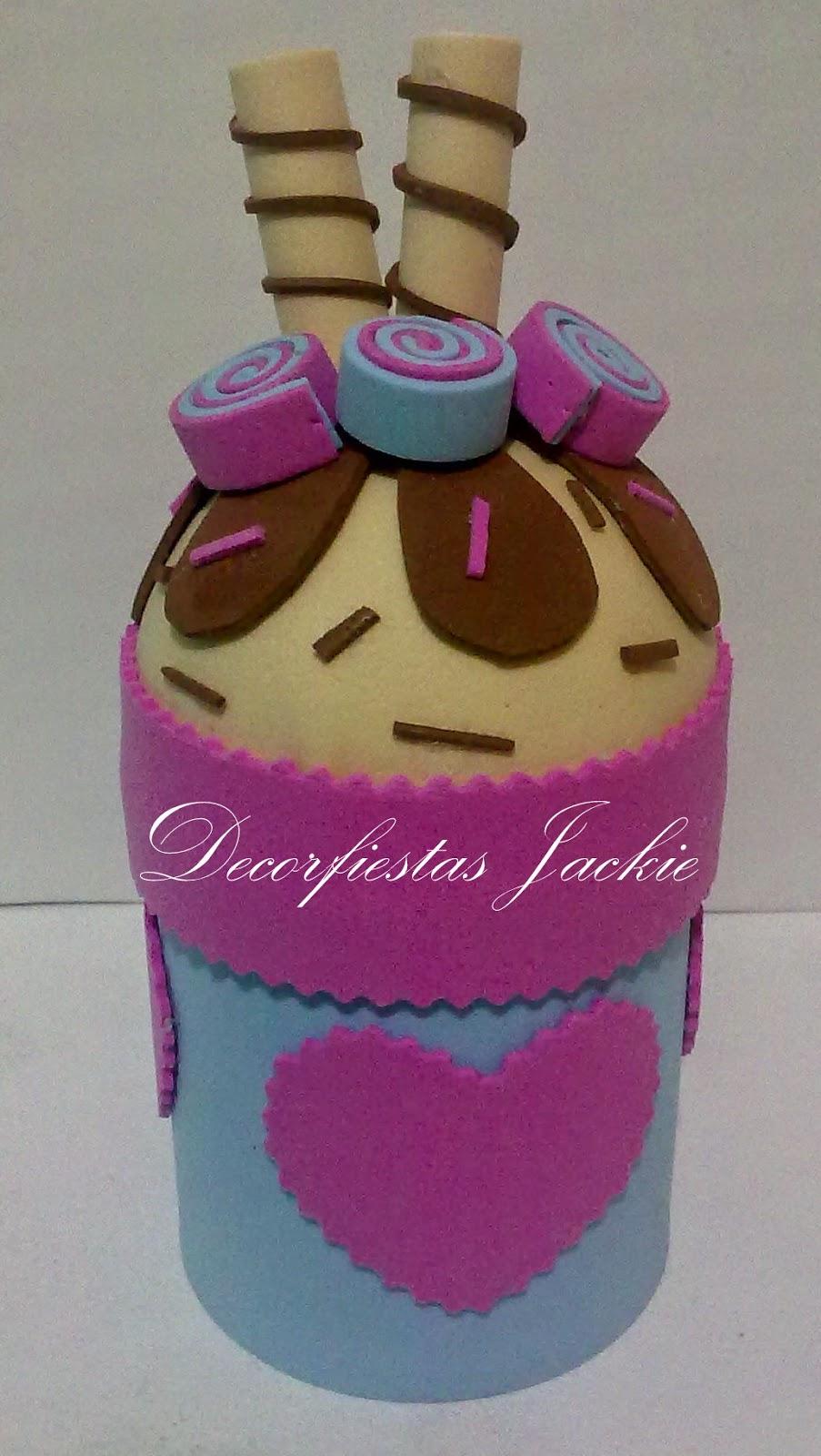 Tarritos decorados con goma frascos decorados todo en for Botes de cocina decorados con goma eva