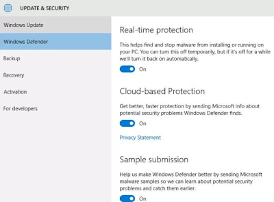 Disable fitur Cloud Based Protection pada Windows 10 hemat kuota