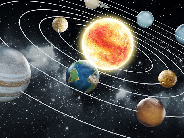 Avaruus tapetti aurinkokunta aurinko planeetat