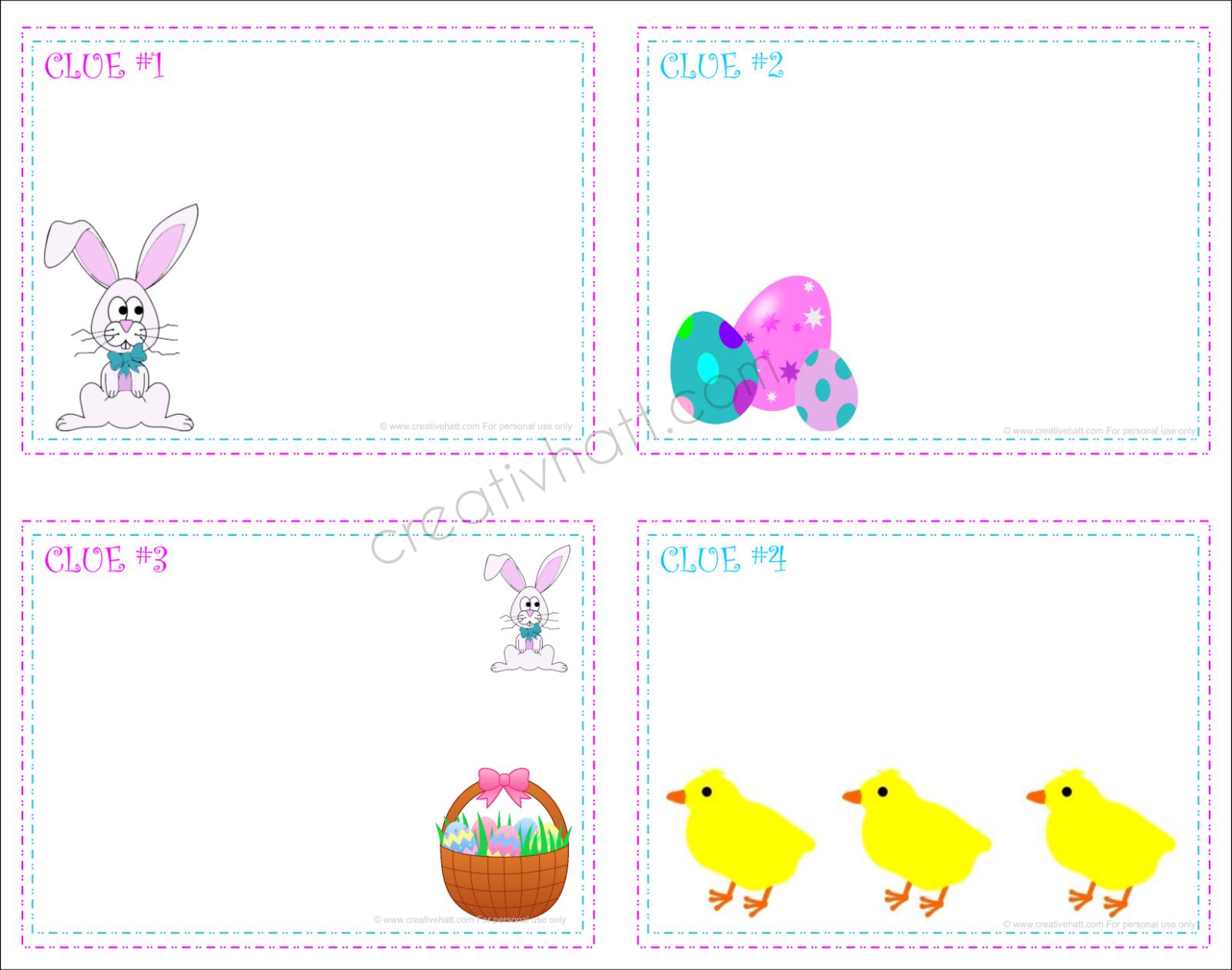 Creativehatt Free Easter Printables T Tags And Treasurer Hunt Clues