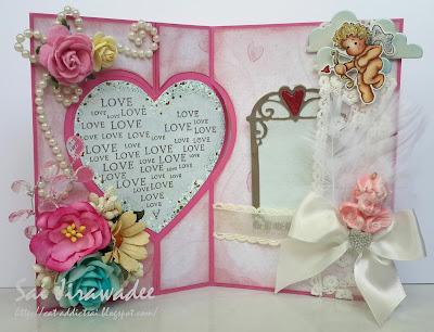 Magnolia Heart Flip Card