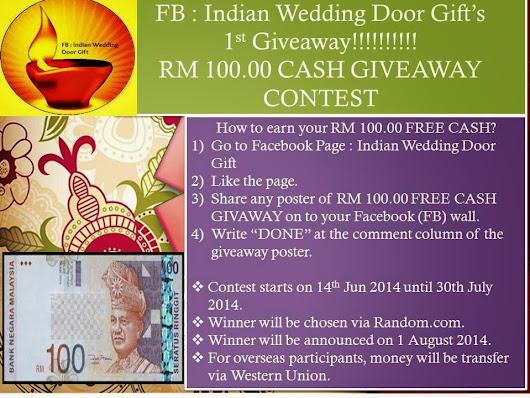 Indian Wedding Door Gifts 1st Giveaway