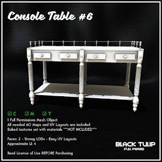 [Black Tulip] Mesh - Console Table #6
