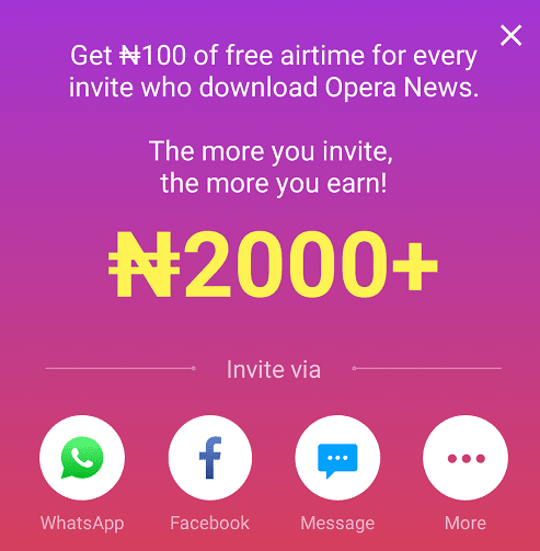 How to Get Unlimited Free Airtime Using Opera News App -