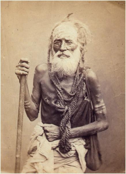 Hindu Sadhu Circa 1860 Old Indian Photos