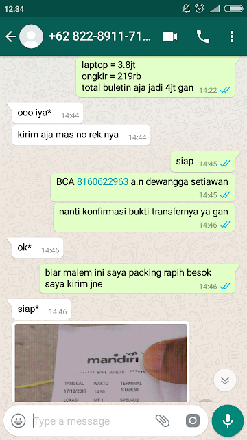 Bukti Transfer Bank Palsu