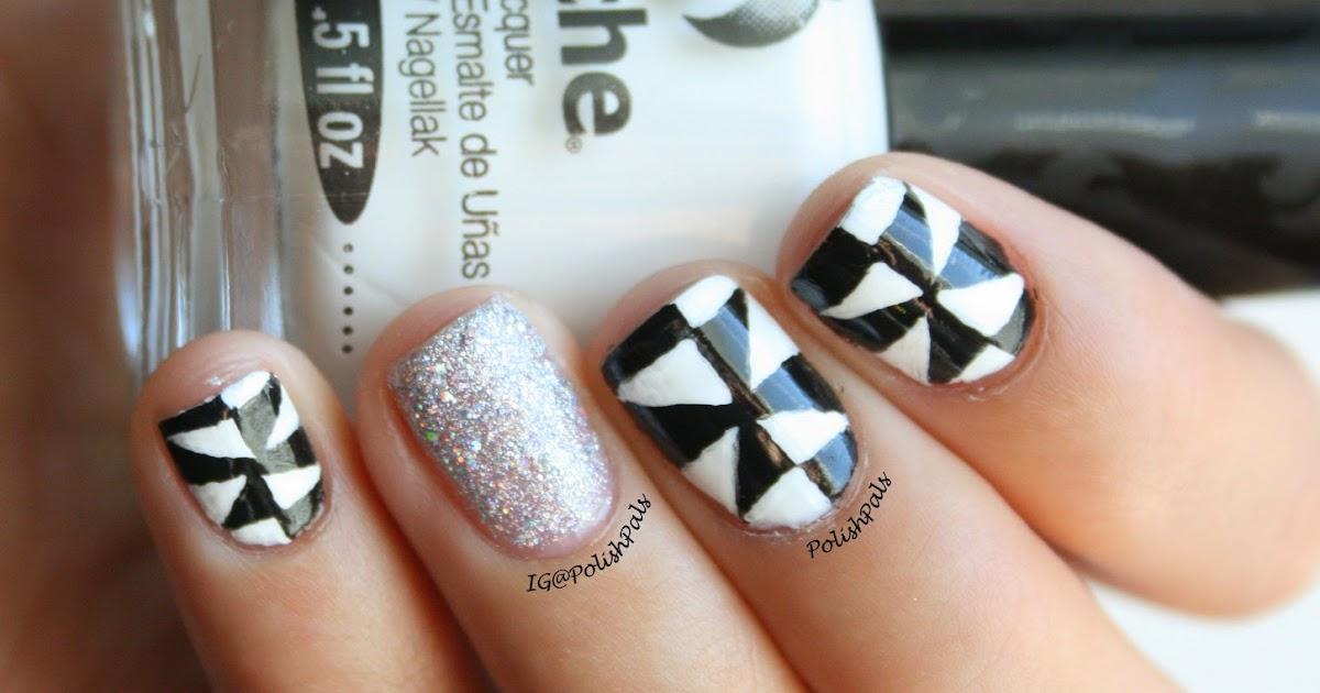 Polish Pals: Black & White Triangles (+ Tutorial)